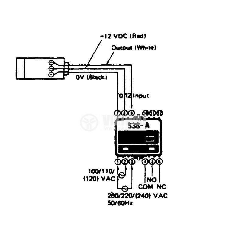 Контролер за оптичен датчик, S3S-B10, 110 / 220 VAC, управление на един или два датчика, 12pins - 7