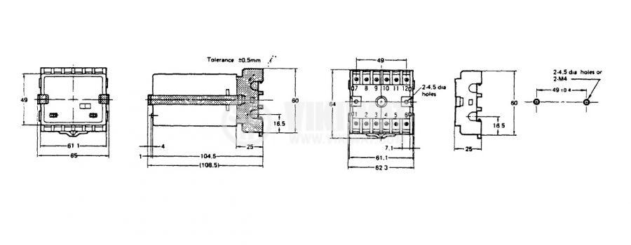 Контролер за оптичен датчик, S3S-B10, 110 / 220 VAC, управление на един или два датчика, 12pins - 10