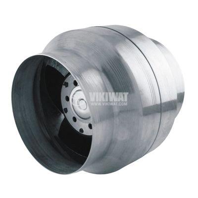 Duct Blower BOK120/100, 220 VAC, 18 W, 150 m3/h, high temperature