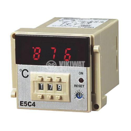 Temperature regulator, E5C4, 220 VAC, 0 ° C to 400 ° C, thermocouple type J, relay output - 2