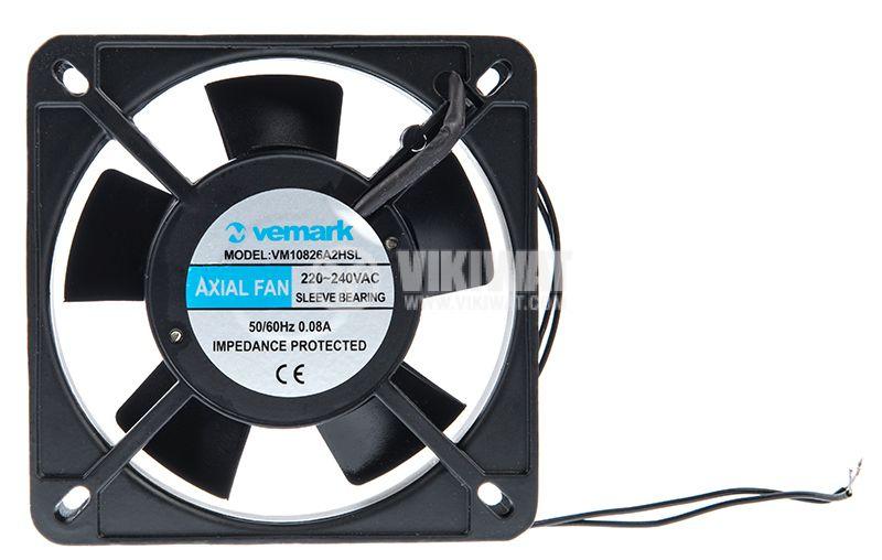 Axial Fan VM12025A2HSL, 120х120х25mm, 220VAC, 0.08A with sleeve bearing - 1