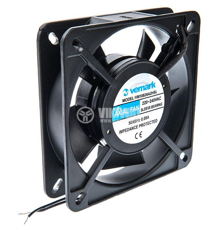 Axial Fan VM12025A2HSL, 120х120х25mm, 220VAC, 0.08A with sleeve bearing - 2