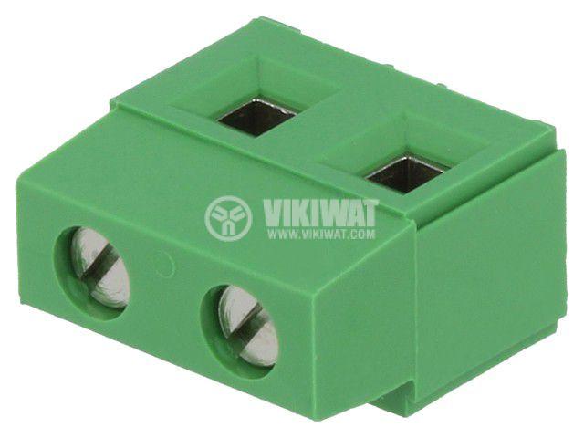 PCB терминален блок, с изолационни прегради, 2 пина, 17.5А, 7.5mm
