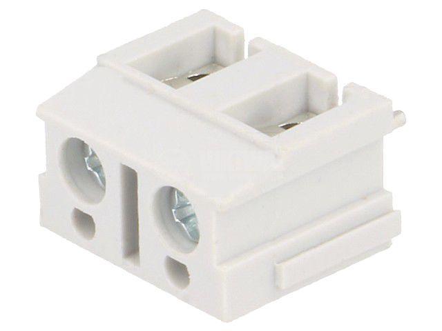 PCB терминален блок, с изолационни прегради, 2 пина, 16А, 7.5mm