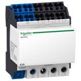 Разпределителен клемен блок, свързване отдолу, 4P, 4 модула, 63A, 440VAC, Schneider 04040