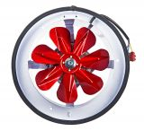 Fan, industrial, axial BK250, ф250mm, 230VAC, 48W, 890m3/h, with shutter