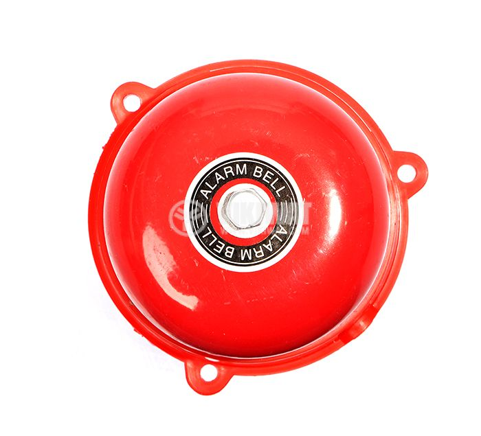 "Fire bell, 240 VAC, 3"" (75 mm),  83 dB, red - 1"