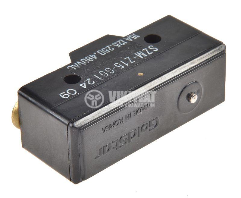 Краен изключвател, SZM-Z15-G01, SPDT-NO+NC, 16A/480VAC, щифт - 2