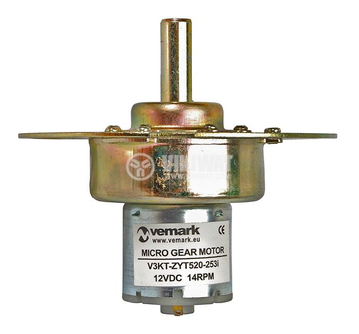 DC Motor Reductor, 12 VDC, 14 rpm, V3KT-ZY520-253i - 3