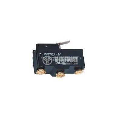 Limit Switch, Z-15GW21, SPDT - NO + NC, 15A/480VAC, lever - 2