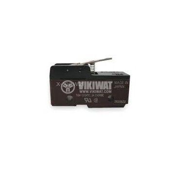 Limit Switch, Z-15GW21, SPDT - NO + NC, 15A/480VAC, lever - 3