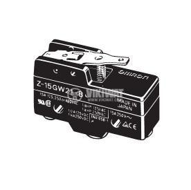 Limit Switch, Z-15GW21, SPDT - NO + NC, 15A/480VAC, lever - 1