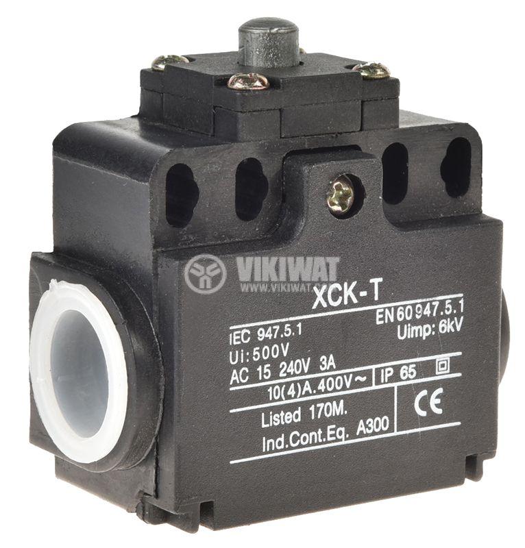 Краен изключвател, XCK-T511, SPDT-NO+NC, 10A/400VAC, щифт - 1