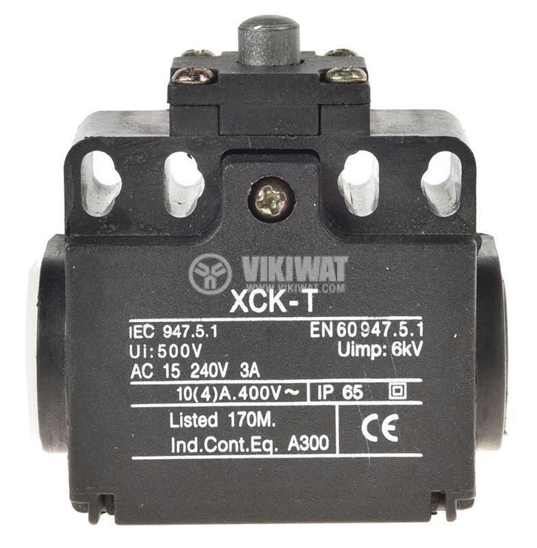 Краен изключвател, XCK-T511, SPDT-NO+NC, 10A/400VAC, щифт - 2