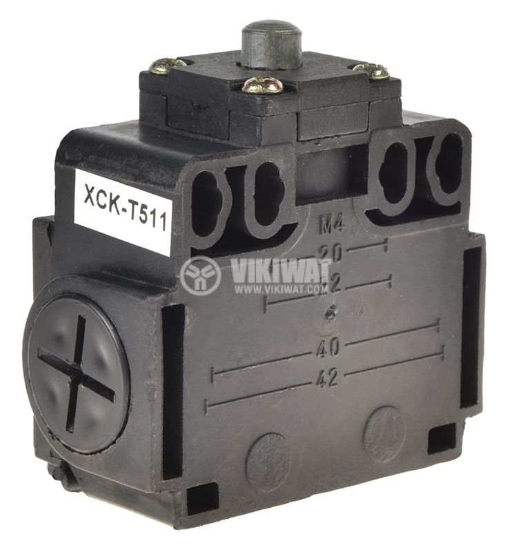 Краен изключвател, XCK-T511, SPDT-NO+NC, 10A/400VAC, щифт - 3