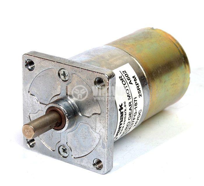 Електродвигател, постояннотоков, с редуктор, 24VDC, 25rpm, VGA37FG-187i - 1