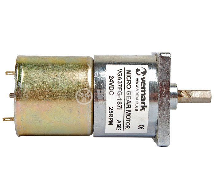 Електродвигател, постояннотоков, с редуктор, 24VDC, 25rpm, VGA37FG-187i - 3