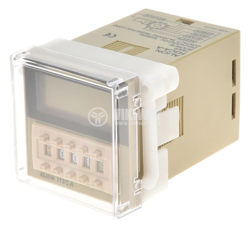Digital Multifunction Time Relay, H3CA-A, 220 VAC, NO + NC, 250 VAC, 3 A - 1