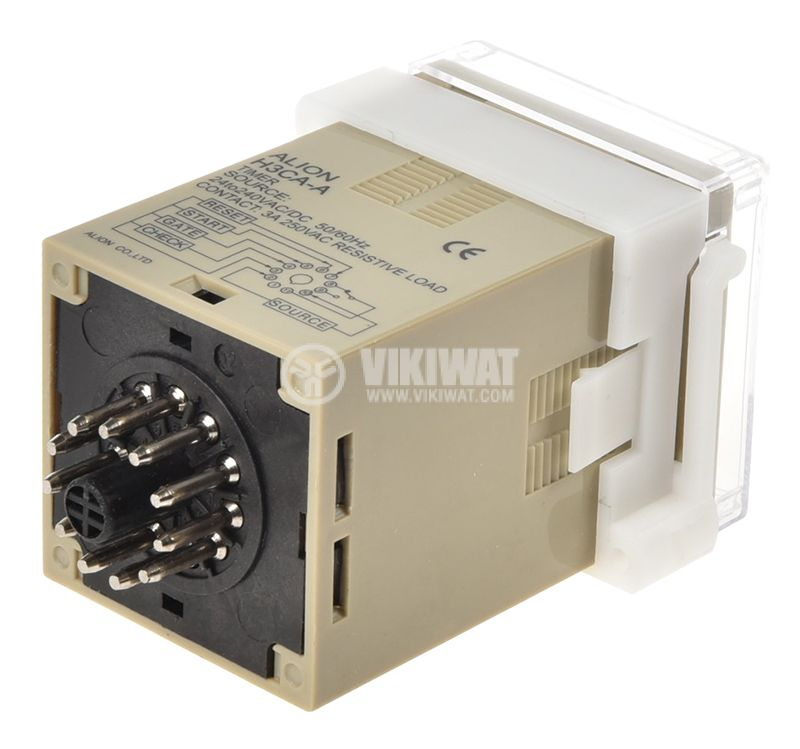 Digital Multifunction Time Relay, H3CA-A, 220 VAC, NO + NC, 250 VAC, 3 A - 2