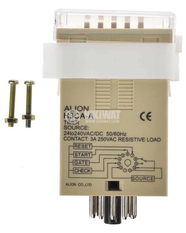 Digital Multifunction Time Relay, H3CA-A, 220 VAC, NO + NC, 250 VAC, 3 A - 3