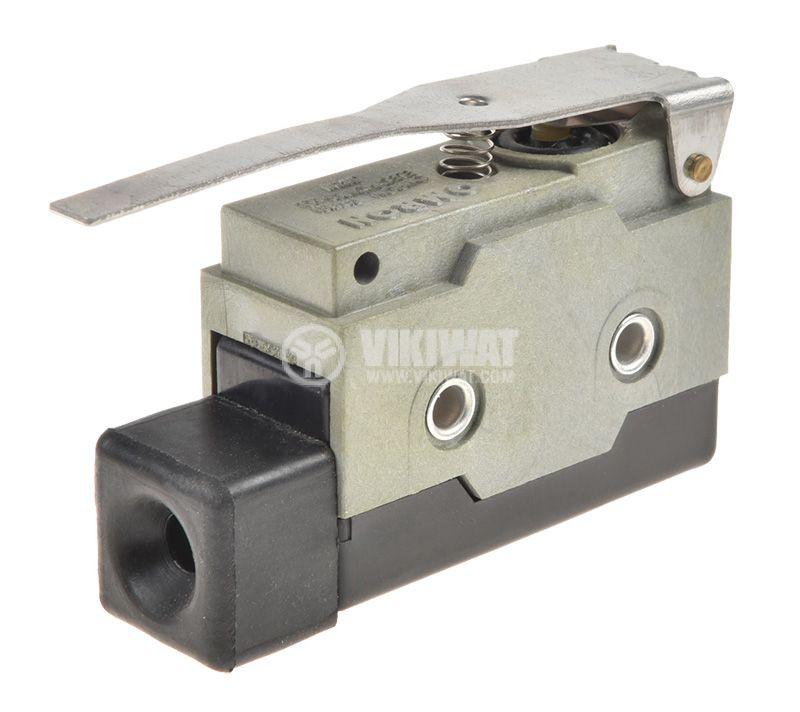 Краен изключвател D4MC-1000, SPDT-NO+NC, 10A, 480VAC, лост - 3
