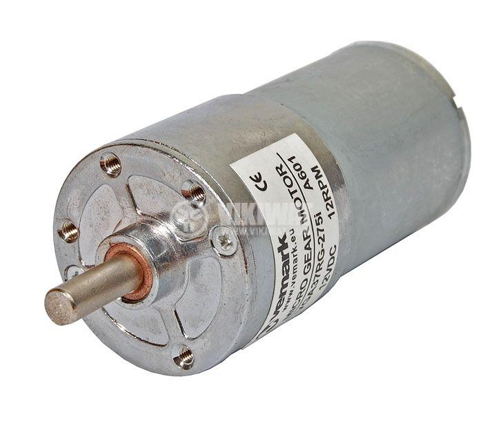 Електродвигател, постояннотоков, с редуктор, 12 VDC,12rpm, VGA37RG-275i - 1