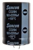 Кондензатор електролитен 2200uF, 160V, THT, Ф35x51mm