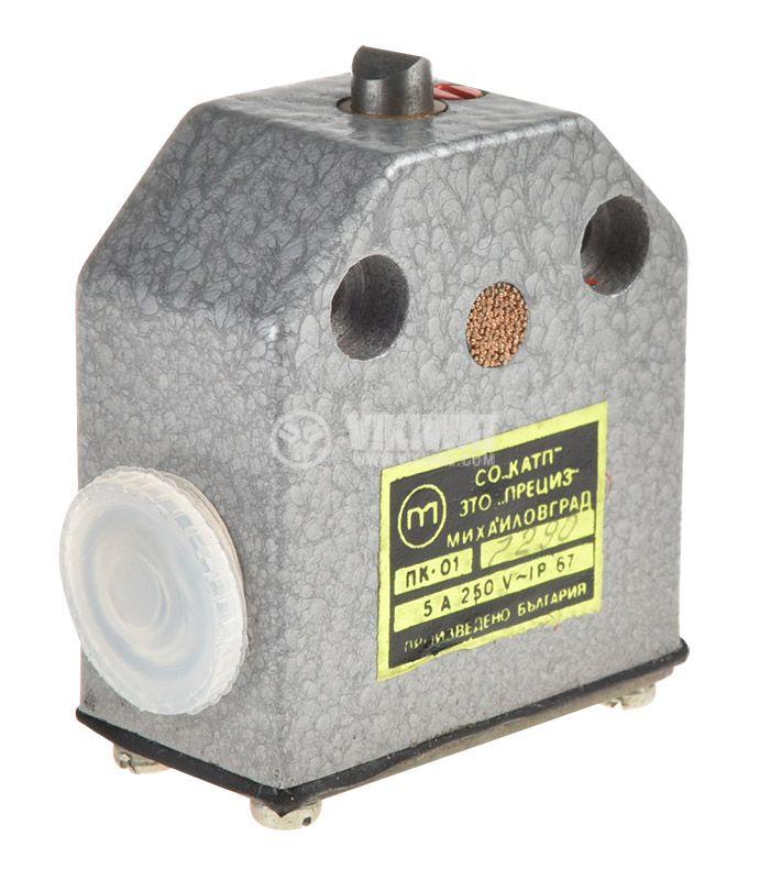 Краен изключвател, (ПКЕ) ПК-01, SPDT-NO+NC, 5A/250VAC, призматичен щифт - 1