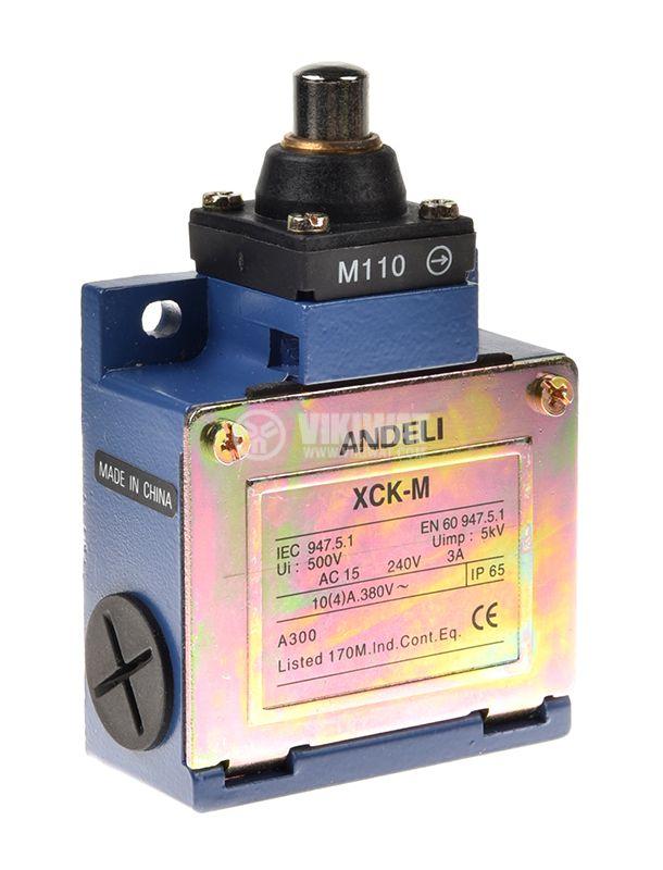 Краен изключвател XCK-M110, SPDT-NO+NC, 10A/250VAC, щифт - 1