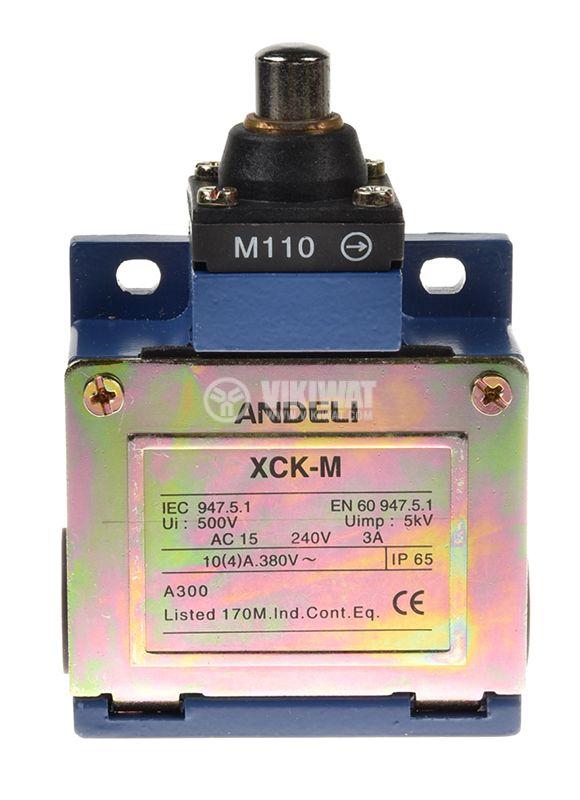 Краен изключвател XCK-M110, SPDT-NO+NC, 10A/250VAC, щифт - 2