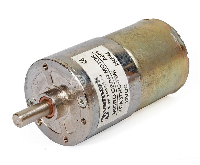 Електродвигател, постояннотоков, с редуктор, 12VDC, 2rpm, VGA37RG-708i - 1