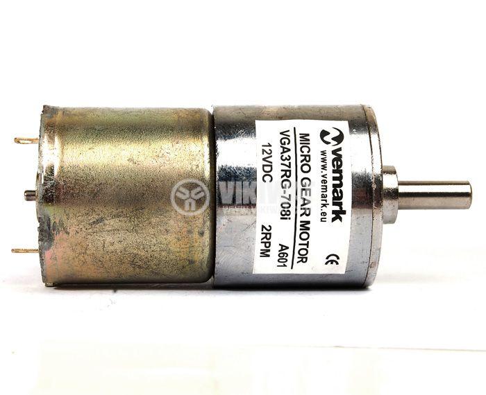 Електродвигател, постояннотоков, с редуктор, 12VDC, 2rpm, VGA37RG-708i - 3