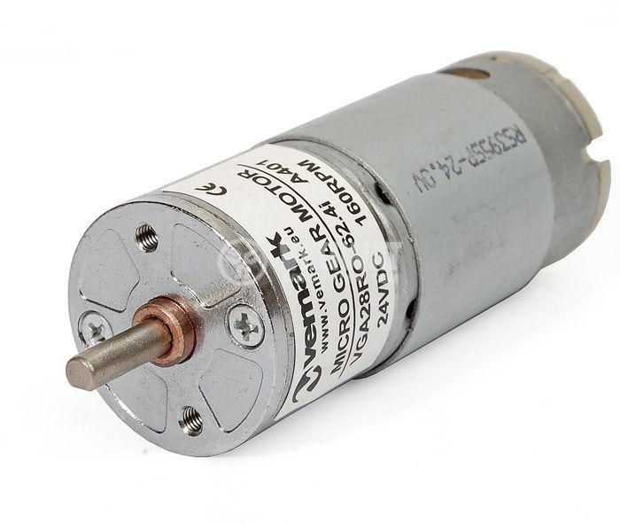 Електродвигател, постояннотоков, с редуктор, 24VDC, 160rpm, VGA28RO-62.4i - 1
