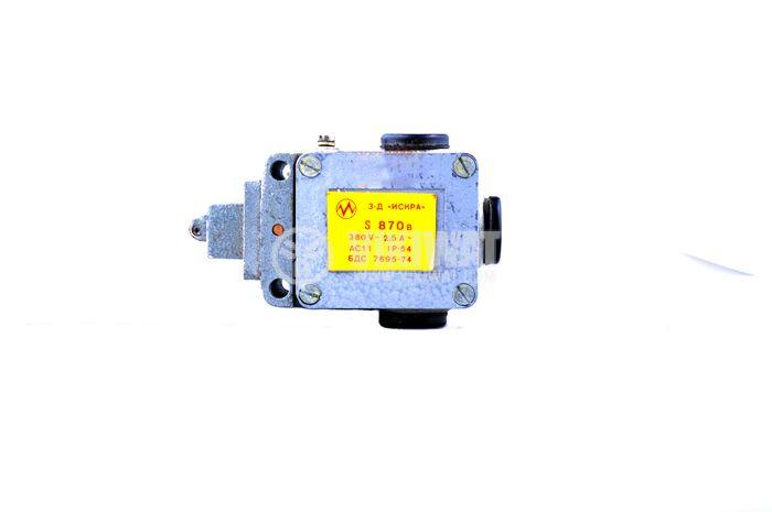 Краен изключвател, S870b, SPDT-NO+NC, 2.5A/380VAC, щифт с ролка - 1