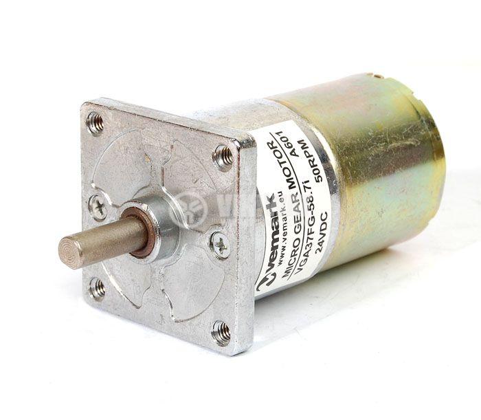 DC Motor Reducer, 24VDC, 50rpm, VGA37FG-58.7i - 1