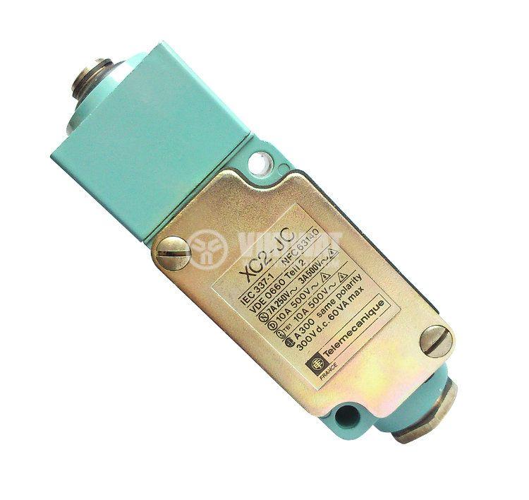 Краен изключвател, XC2-JC, NO+NC, 500VAC / 300VDC, 10A, щифт - 1