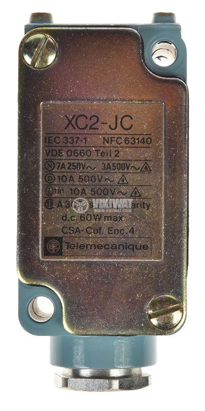 Limit switch, XC2-JC ZC2 JC1, NO+NC, 500VAC, 10A, pusher - 1