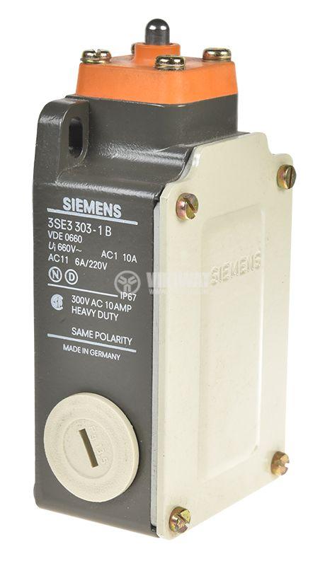 Limit switch, 3SE3 303-1B, DPST-NO+NC, 10A/660VAC, pusher - 1