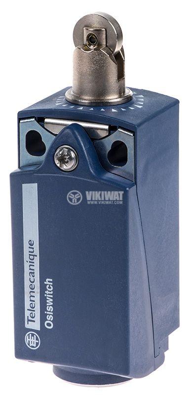 Краен изключвател, XCKP2102P16, NO+NC, 240VAC / 250VDC, 10A, щифт с ролка - 1