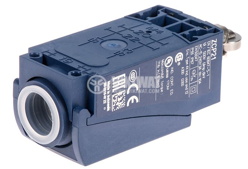 Limit Switch, XCKP2502P16, NO + NC, 240VAC / 250VDC, 10A, pusher with roll - 2
