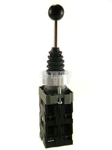 Joystick XD2-PA24 mini, 4-positions, spring return, 240VAC (6А), 380VAC (3A), SPST 1NO - 1