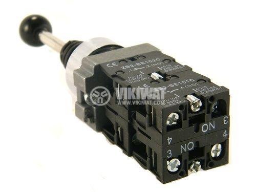 Joystick XD2-PA24 mini, 4-positions, spring return, 240VAC (6А), 380VAC (3A), SPST 1NO - 2