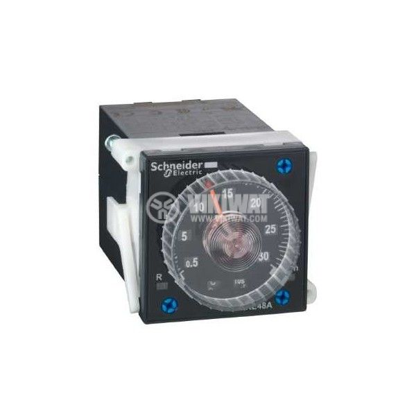 Time Relay, RE48AML12MW, 24-220 V, 2NO+2NC, 5 A, 250 V, 0.02 s - 300 s