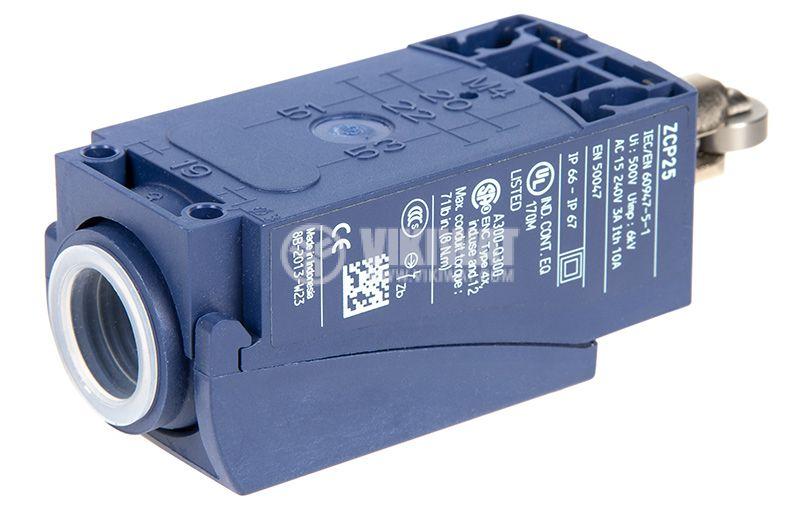 Краен изключвател, XCKP2502P16, NO+NC, 240VAC / 250VDC, 10A, щифт с ролка - 2