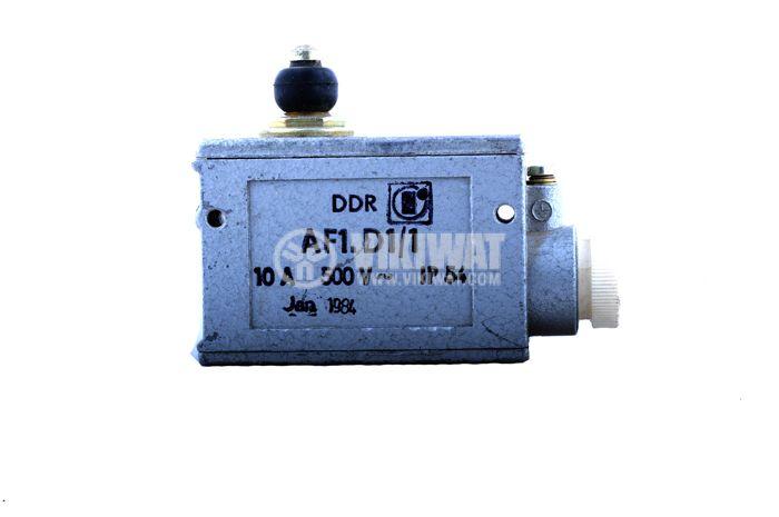 Краен изключвател, AF1D1/1, SPDT-NO+NC, 10A/500VAC, щифт - 1