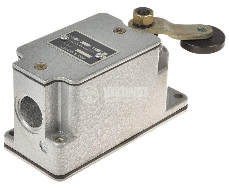 Краен изключвател, незадържащ, ВП16г23а23, SPDT - NO+NC, 16A/660VAC, рамо с ролка - 2