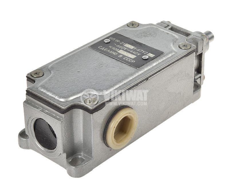 Краен изключвател, ВП19-21А411-67Y2.27, 4PST-3NO+1NC, 10A/660VAC, щифт - 2