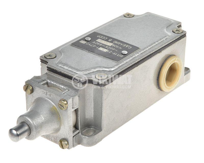 Краен изключвател, ВП19-21А411-67Y2.27, 4PST-3NO+1NC, 10A/660VAC, щифт - 1