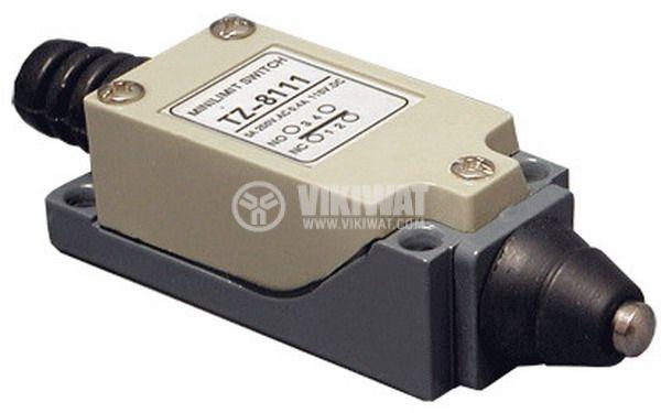 Краен изключвател, TZ-8111, SPDT-NO+NC, 5A/250VAC, щифт - 1