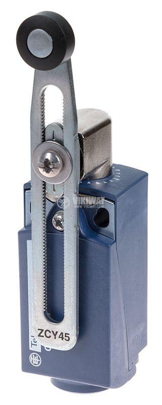 Краен изключвател, XCKP2145P16, NO+NC, 240VAC / 250VDC, 10A, регулируемо рамо - 1
